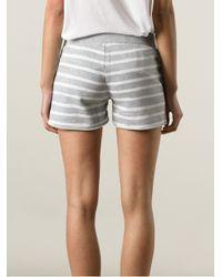 MICHAEL Michael Kors - Gray Striped Shorts - Lyst