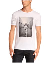 BOSS Orange | White T-shirt 'timblin 2' In Cotton for Men | Lyst