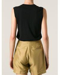 Dolce & Gabbana - Black Lace Panel Tank Top - Lyst
