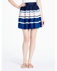 kate spade new york | Blue Stripe Cupcake Skirt | Lyst