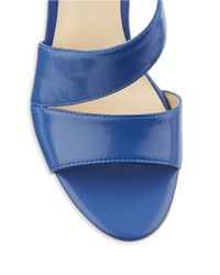 Nine West - Blue Ibby Leather Stiletto Sandals - Lyst