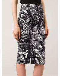 Elizabeth and James - Black Palm Print Sleeveless Dress - Lyst