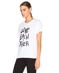 Each x Other - White Love Each Other Tee - Lyst