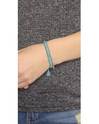 Tai - Blue Wishbone Bracelet Set - Teal - Lyst