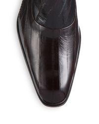 Mezlan | Brown Orleans Eel Skin Monk Strap Shoes for Men | Lyst
