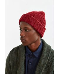 Urban Outfitters - Red Uo Flex Knit Beanie for Men - Lyst