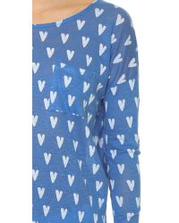 Chinti & Parker - Blue Heart Print Long Sleeve Tee - Lyst