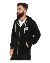 Converse | Black Core Full Zip Hoodie for Men | Lyst