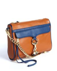 Rebecca Minkoff - Brown Almond and Navy Leather Convertible Mini Mac Bag - Lyst