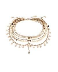 TOPSHOP | Metallic Multi-chain Anklet By Orelia | Lyst