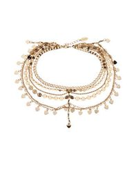 TOPSHOP - Metallic Multi-chain Anklet By Orelia - Lyst