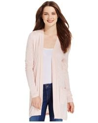 Calvin Klein Jeans | White Long-sleeve Open-front Cardigan | Lyst