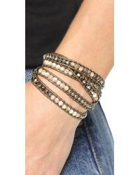 Chan Luu - Metallic Ombre Beaded Wrap Bracelet - Abalone Mix - Lyst