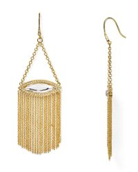 Rebecca Minkoff - Metallic Phoenix Fringe Chandelier Earrings - Lyst