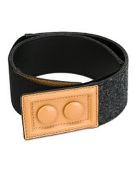 Marni - Black Contrasted Buckle Belt - Lyst
