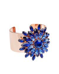 Ted Baker | Blue Gavi Jewel Flower Cuff | Lyst