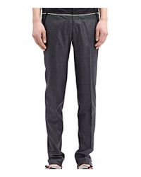 Kolor - Gray High Tech Pleated Wool Pants for Men - Lyst