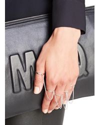 Eddie Borgo - Metallic Silver-plated Five Finger Ring - Lyst