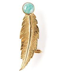 Leivan Kash - Metallic Feather Ear Cuff - Lyst