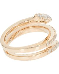 Roberto Marroni - Metallic Diamond & Red Gold Snake Ring - Lyst