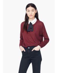 Mango - Purple Essential Cotton-blend Sweater - Lyst