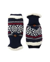 Forever 21 | Blue Fair Isle Convertible Gloves | Lyst