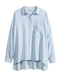 H&M | Blue Oversized Shirt | Lyst