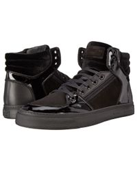 Marc Jacobs | Black Mixed Leather Hi-top Sneaker for Men | Lyst