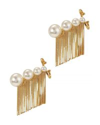 Ca&Lou | Metallic Inez 24Kt Gold Plated Fringed Earrings | Lyst