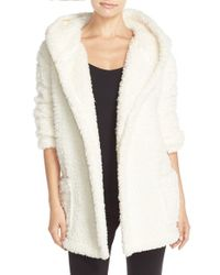 Make + Model | White 'oh So Cozy' Hooded Cardigan | Lyst