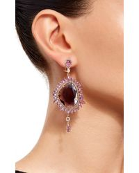 Sutra | Purple Sapphire Drop Earrings | Lyst