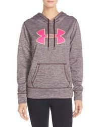 Under Armour Purple 'big Logo' Twist Water-resistant Hoodie