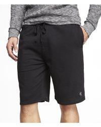 Express - Black Drawstring Lounge Shorts for Men - Lyst