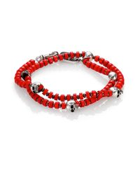 King Baby Studio | Red Coral  Sterling Silver Beaded Bracelet for Men | Lyst