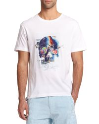 Robert Graham - White Skull Collage Tee for Men - Lyst