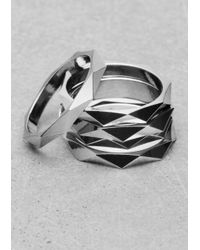 & Other Stories - Metallic Octagonal Multi-Ring - Lyst