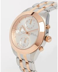 Marc By Marc Jacobs | Pink Mbm3369 Mixed Metal Chronograph Watch | Lyst