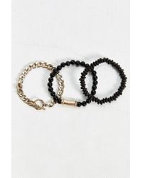 Urban Outfitters - Multicolor Bronze Beaded Bracelet Set for Men - Lyst