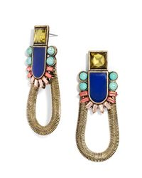 BaubleBar - Multicolor Geo Snake Chain Drops - Lyst