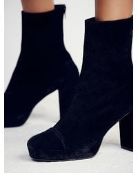Free People - Black Day For Night Platform Ankle Boot - Lyst
