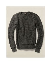 RRL - Black Cashmere Shawl Cardigan for Men - Lyst