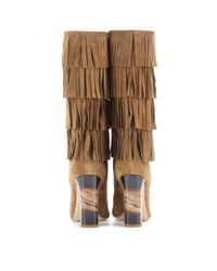 Burberry Brown Jazmine Fringed Suede Boots