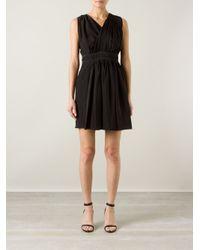 Vionnet - Black Wrap Bust Mini Dress - Lyst