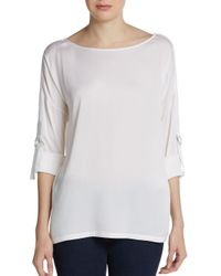 Vince - White D-ring Military Blouse - Lyst