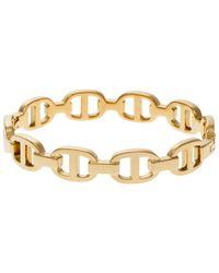 Michael Kors - Pink Rose Gold Toned Maritime Hinge Bracelet - Lyst