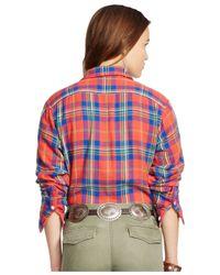 Polo Ralph Lauren   Blue Relaxed-fit Plaid Shirt   Lyst