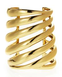 Rachel Zoe | Metallic Gold-Plated Wide Cuff | Lyst