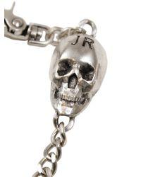 John Richmond - Metallic Metal Skull Charm Pocket Chain - Lyst