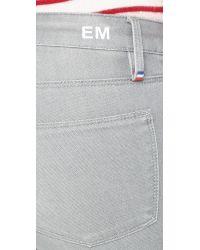 Etienne Marcel - Gray Zip Skinny Jeans - Light Grey - Lyst