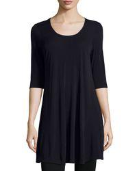 Eileen Fisher   Blue Silk-Blend Tunic Dress   Lyst